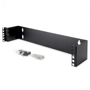 2RU Wall Mount Patch Panel Bracket - 19 Inch Wide & 102mm Deep
