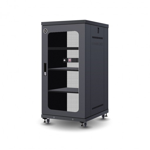 Serveredge 22RU 600mm Wide & 800mm Deep Fully Assembled Free Standing Server Cabinet