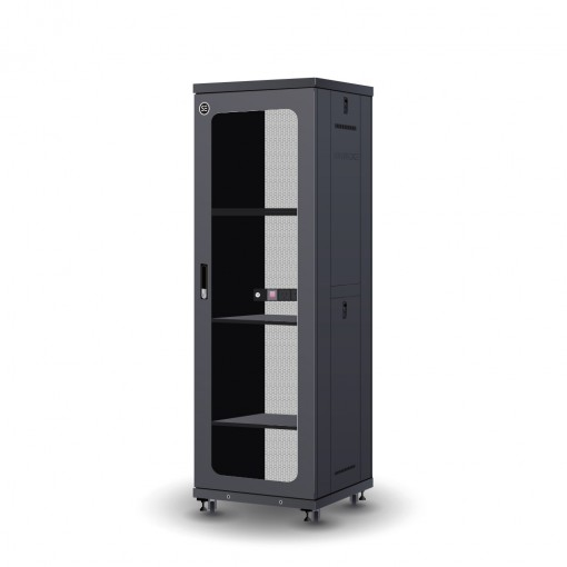 Serveredge 37RU 600mm Wide & 600mm Deep Fully Assembled Free Standing Server Cabinet