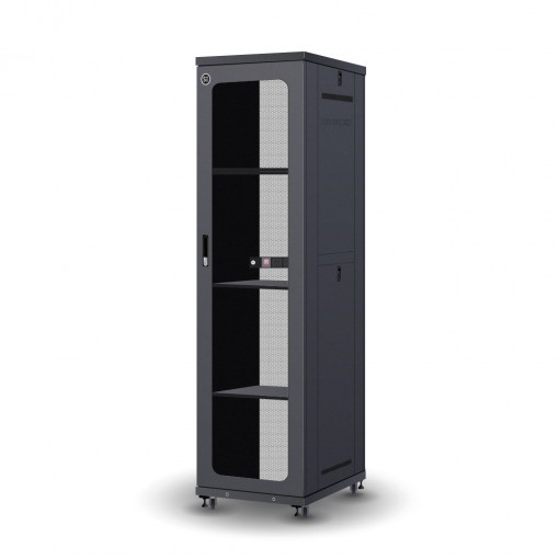 Serveredge 45RU 600mm Wide & 1000mm Deep Fully Assembled Free Standing Server Cabinet