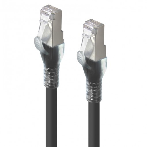 10m Black 10G Shielded CAT6A LSZH Network Cable