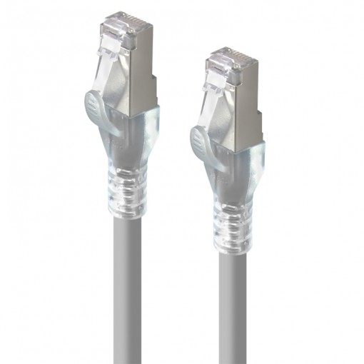 0.5m Grey 10GbE Shielded CAT6A LSZH Network Cable