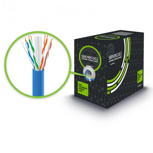 305m 23AWG Blue PVC Solid CAT6 Network Cable - U-UTP / 4 Pair