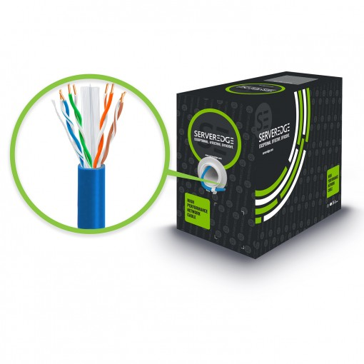 305m Blue CAT6A Network Cable - UTP, Solid, PVC, 23AWG