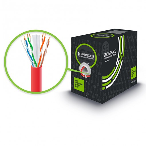 305m 23AWG Red PVC Solid CAT6 Network Cable - U-UTP / 4 Pair