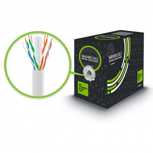305m 23AWG White PVC Solid CAT6 Network Cable - U-UTP / 4 Pair