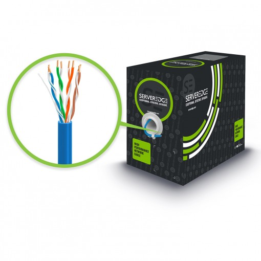 Serveredge CAT5E 305m Network Cable - UTP, Solid, PVC, 24AWG - BLUE