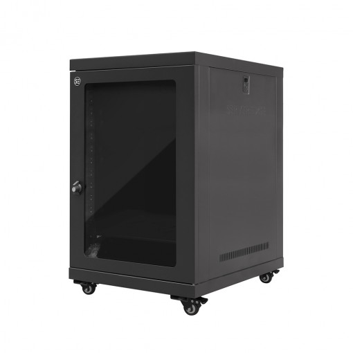 Serveredge 15RU 600mm Wide & 600mm Deep Fully Assembled Free Standing Server Cabinet