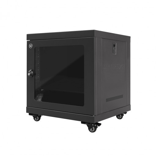 9RU 600mm Wide & 450mm Deep Fully Assembled Free Standing Server Cabinet