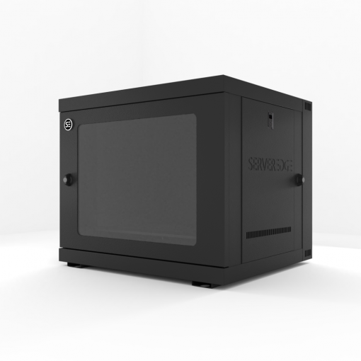 9RU 600mm Wide & 550mm Deep Fully Assembled Swing Frame Hinged Wall Mount Server Cabinet