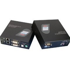 Serveredge Dual DVI KVM Extender, PS/2, USB, Serial, with Audio over UTP up to 100m
