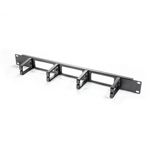 1RU Horizontal 4 RINGS Metal Cable Management Rail