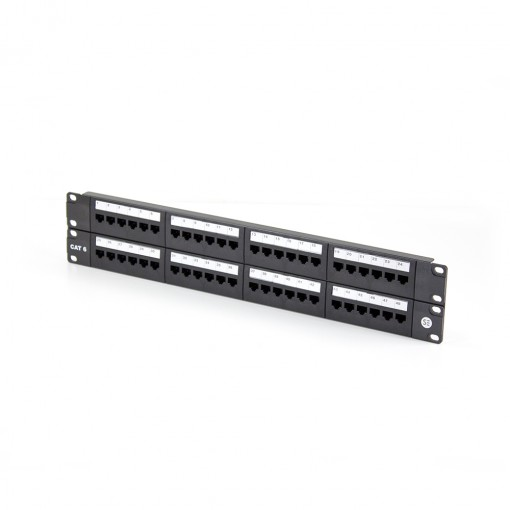 48 Port CAT6 Patch Panel - INCLUDES CABLE MANAGEMENT BAR
