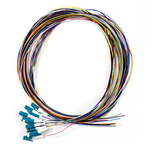 Serveredge LC Pigtail OS2-2M-12 Fibres (Multi-Color)