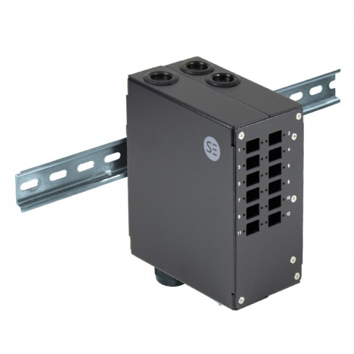 LC Din Rail Mount Enclosure - 12 Port LC Duplex/SC Simplex