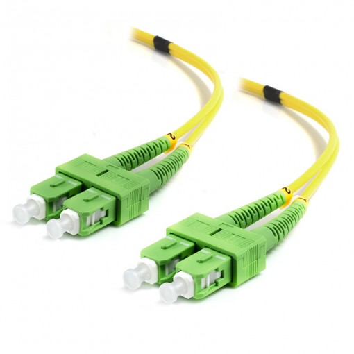 10M SCA-SCA Single Mode Duplex LSZH Fibre Cable 09/125 OS2
