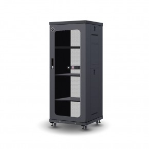 27RU 600mm Wide & 600mm Deep Fully Assembled Free Standing Server Cabinet