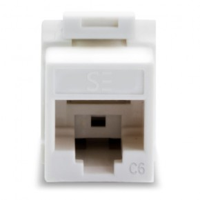 Universal Cat6, UTP, RJ45 Modular Keystone Jack - White - Pack of 10 - SERVEREDGE