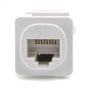 RJ45 CAT 6 UTP Modular Clipsal Style Jack -White - Pack of 10 - SERVEREDGE