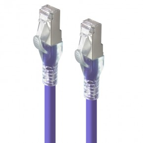 1.5m Purple 10GbE Shielded CAT6A LSZH Network Cable