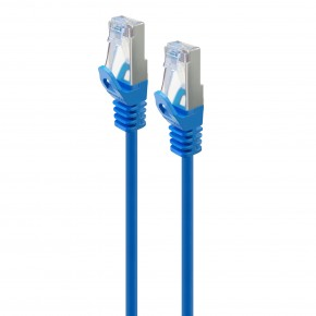 Serveredge 0.3m Blue CAT6A Slim S/FTP Network Cable