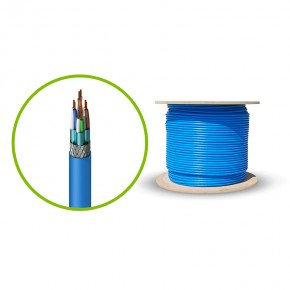 Serveredge CAT6A 305m Shielded Network Cable - SFTP, Solid, LSZH 23AWG - BLUE