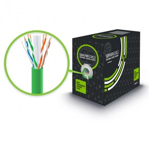 305m 23AWG Green PVC Solid CAT6 Network Cable - U-UTP / 4 Pair