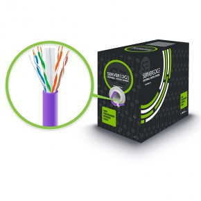 305m 23AWG Purple PVC Solid CAT6 Network Cable - U-UTP / 4 Pair