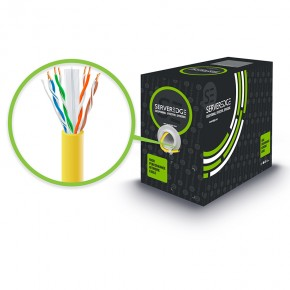 305m 23AWG Yellow PVC Solid CAT6 Network Cable - U-UTP / 4 Pair