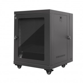 12RU 600mm Wide & 550mm Deep Fully Assembled Free Standing Swing Door Server Cabinet