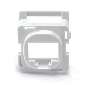 RJ45 Clipsal Bezel - White (Pack of 10)