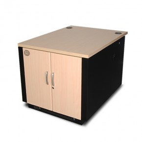 12RU 750MM WIDE & 1135MM Deep Fully Assembled Free Standing Premium Soundproof Office Server Cabinet
