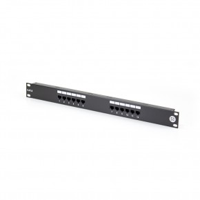 Serveredge 12 Port CAT6 Patch Panel - 1RU, UTP - Includes Cable management bar