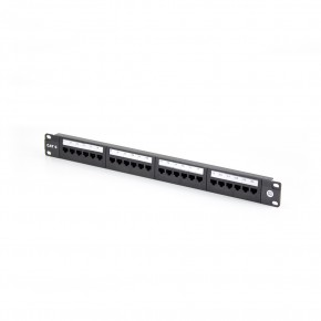 Serveredge 24 Port CAT6 Patch Panel - 1RU, UTP - includes Cable management bar