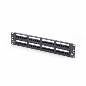 Serveredge 48 Port CAT6 Patch Panel - 2RU UTP - Includes Cable management bar
