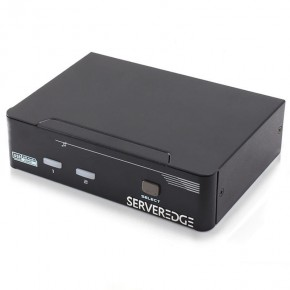 Serveredge 2-Port USB / DisplayPort Desktop KVM Switch With Audio & USB Hub2.0 - Includes Cables