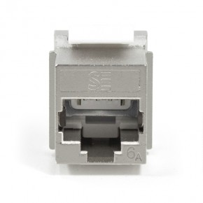 Serveredge Universal Cat6A, STP, RJ45 Modular Keystone Jack - QUICK TOOL Compatible - Pack of 10