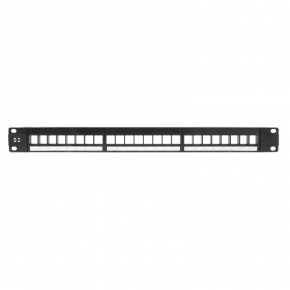 Serveredge 24 Port Unloaded Patch Panel Frame 1RU, UTP - Includes Cable Management Bar
