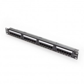 Serveredge 24 Port CAT5e Patch Panel - 1RU, UTP- Includes Cable Management Bar