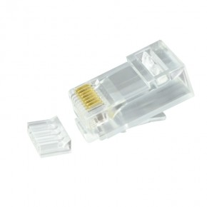 Serveredge RJ45 Cat6 Unshielded Plug - Suitable for Solid & Stranded Cables - Pack of 10