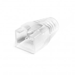 RJ45 Cat6A Clear Strain Relief Boot(7mm OD): Bag of 10