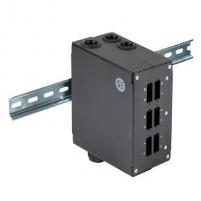 Serveredge Din Rail Mount Enclosure - 6 Port SC Duplex/LC Quad