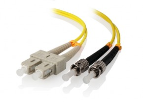 1m SC-ST Single Mode Duplex LSZH Fibre Cable 09/125 OS1