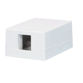 Serveredge 1 Way Universal Surface Mount Box - White