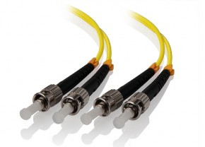 1m ST-ST Single Mode Duplex LSZH Fibre Cable 09/125 OS1