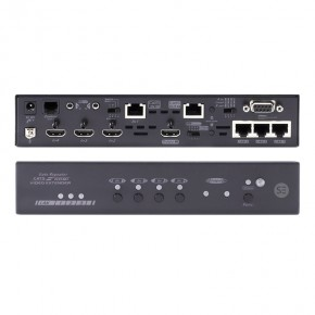 4K2K 4-Input Switcher with (1) HDBaseT (3) HDMI Inputs, (1) HDBaseT (1) HDMI Mirrored Outputs, IR, Ethernet & Control -100m