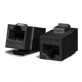 Serveredge Universal Cat6A, UTP, RJ45 Modular Keystone Coupler - BLACK