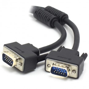 2m VGA/SVGA Premium Shielded Monitor Cable With Filter - Male to Male